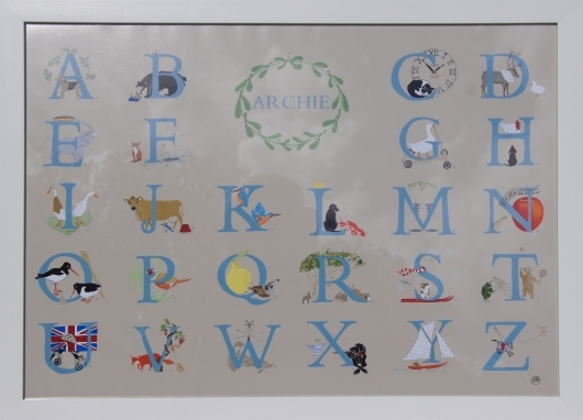 A-Z Illustrated Alphabet Print by Sal Ashmore